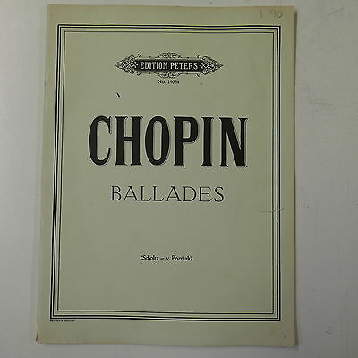 piano solo CHOPIN ballades , peters 1905a