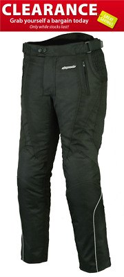 RKsports Air Born Motorcycle motorbike Black Trouser  with CE armour Cordura