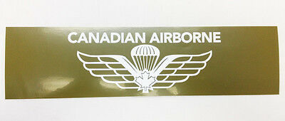 Canadian Military Airborne Paratrooper Parachutist Bumper Sticker Wings #13847