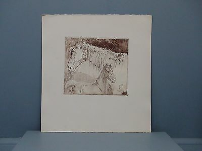 MY LAST ONE George Ford Morris Estate Artist Proof Lithograph of a Mare & Foal