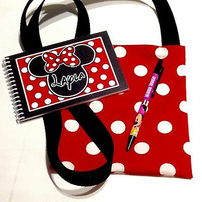 Personalized DISNEY Autograph Book MINNIE MOUSE inspired with Match Bag & Pen