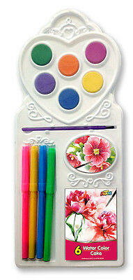 6 colors Watercolor Cake 4 marker Painting set Non-toxic Safe for Kids Bulk Lots