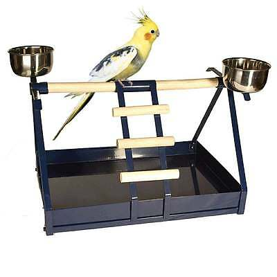 Nature Line Cages Table Top Parrot Stand for Small Parrots & Parakeets