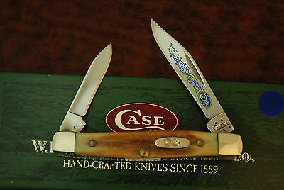 Case Xx Usa 2006 Blue Scroll Genuine India Stag Pen Knife 5233 Ss Nice (Fz287)