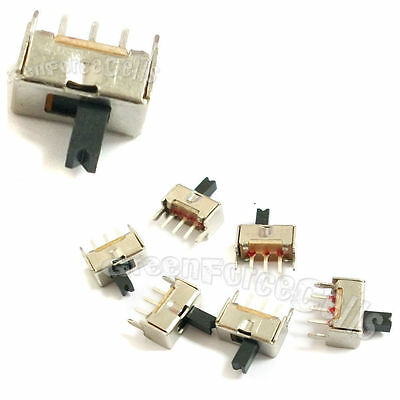 100 pcs 2 Position SPDT Vertical Slide Switch Small Mini Size ON-OFF 3 Pin PCB