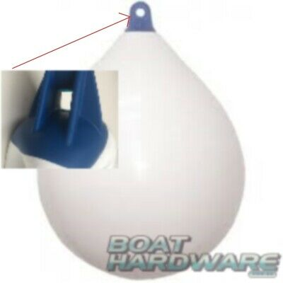 Teardrop Inflatable Boat Yacht Fender Buoy Bumper 550x730mm White/Blue