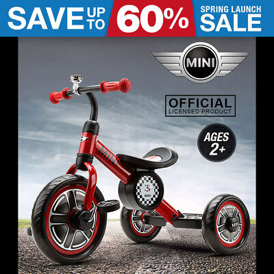 NEW Licensed MINI COOPER Kids Tricycle - Trike Ride-On Toy Bike Toddler Tandem