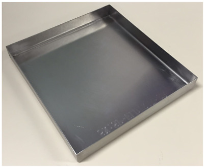 215mm L 197mmW Commercial Stainless Steel Food Tray