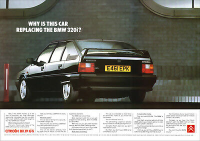 CITROEN BX 19 GTi RETRO A3 POSTER PRINT FROM CLASSIC 80's ADVERT