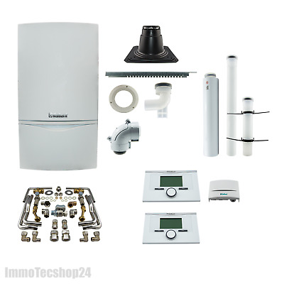Vaillant VCW 206 5-5 Paket Gas Brennwerttherme Kombitherme Regelung Therme 20 kW