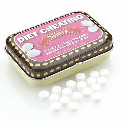 Diet Cheating Mints Fun Mints in a tin Sugar free Fun gift New & sealed