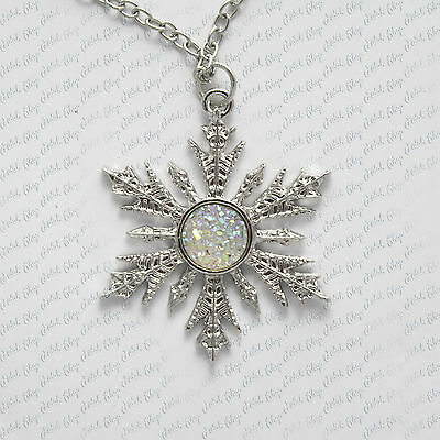 collana once upon a time frozen elsa cosplay snowflake fiocco necklace halskette