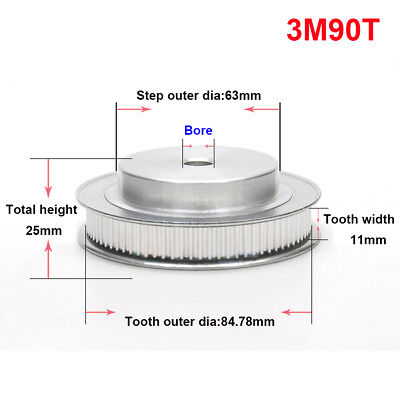 3M40T Pitch 3mm Synchronous Timing Belt Pulley Wheel For 10mm Width Timing Belt