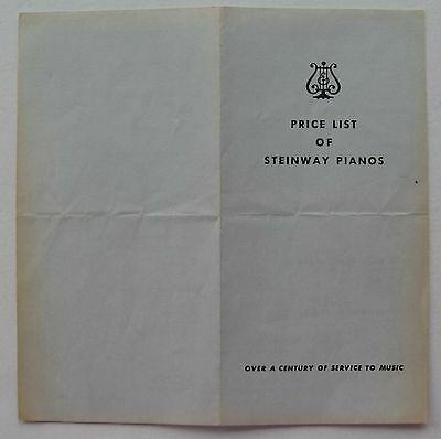 Price List Of Steinway Pianos Oct 25, 1982