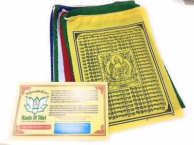 Medicine Buddha Prayer Flags Set of 10 Flags - 6x8