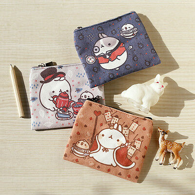 [MOLANG #SHOP] Molang Cute Thin Mini Pouch 3 KINDS NEW