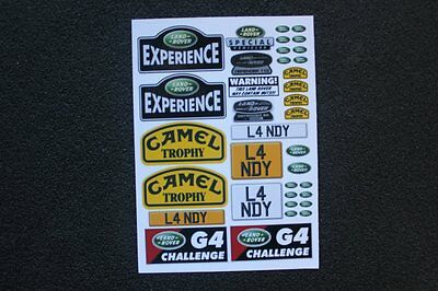 Custom Decal Stickers for Gelande D90 D110 RC4WD Land Rover Crawler