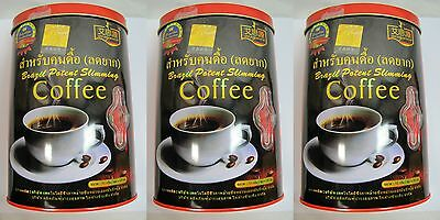 3XBrazil Potent SLIMMING Natural COLLAGEN Coffee Diet Difficult Weight w/Track