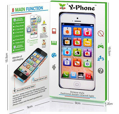 Toy Phone Baby Children Educational Y-Phone Learning Kids iPhone TOY 4s 5 Gift