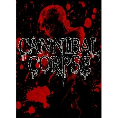 Cannibal Corpse Red Skull Fabric Poster Flag Death Metal Textile Wall Banner New