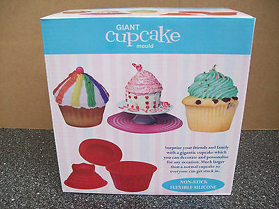 New Giant Cupcake Mold - Includes Bonus Icing Smoother Polisher Tool - Christmas