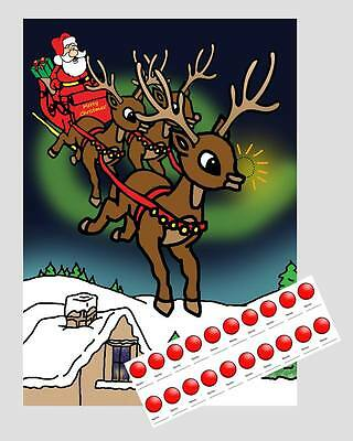Pin The Nose On The Reindeer - Childrens Christmas Game - 20 Players - Premium