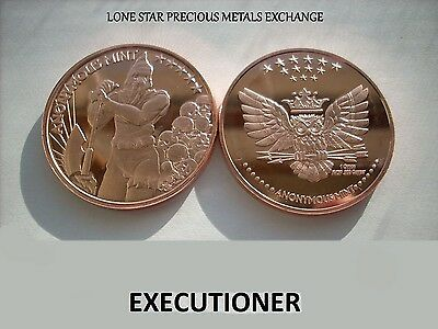 The Executioner 1 oz .999 Copper BU Round USA Made Proof-Like Bullion Coin