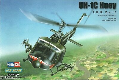 Hobby Boss 87229 - UH-1C Huey Helicopter - Hubschrauber 1:72