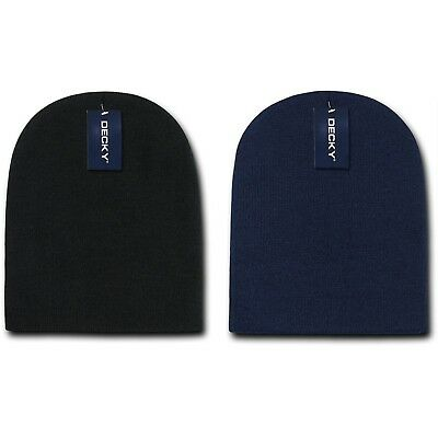 Decky Snug Short Fit Beanies Beanie Knitted Ski Skull Caps Hats Warm Winter