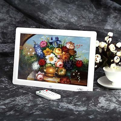 """Andoer 12""""HD LCD Digital Photo Frame MP3 MP4 Movie Player Remote Controller ZG7P"""