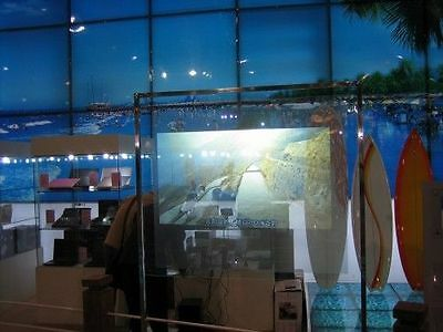 Self Adhesive Transparant Holographic Rear Projection Screen  Big Size 60*120CM
