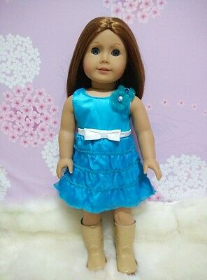 American Girl Our Generation Journey Girls 18 inch Doll Clothes Blue Dress