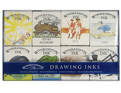 Winsor & Newton Drawing Inks 14ml Set of 8 | William Collection RRP £24.99