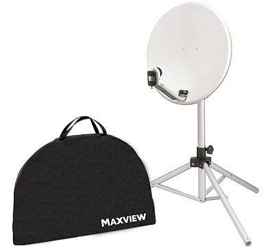 Maxview Portable-Sat-Kit 65 cm m. Receiver 12/230 V u. easy find LNB