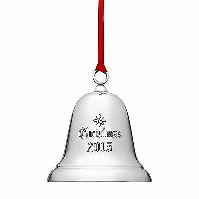 2015 Reed Barton Sterling 31st Annual Engraved Traditional Xmas Ornament Bell