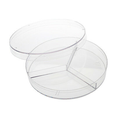 CELLTREAT 100mmX15mm Petri Dish, 3 Compartments, 40/Case, Sterile, #229683S