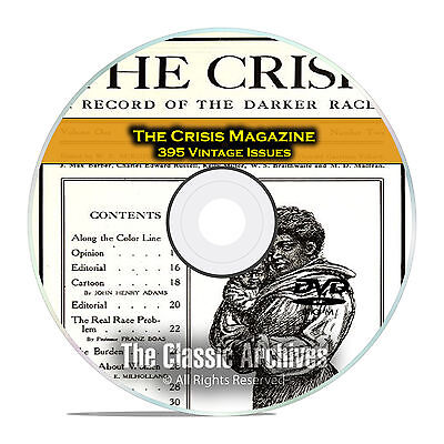 The Crisis Magazine, 395 Vintage Issues, 1910-1963 American Civil Rights DVD D09