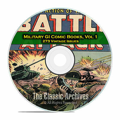 Military, GI Joe, Battle Attack, GI Combat, 273 Issues Golden Age Comics DVD D12