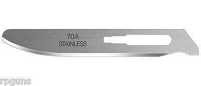 """Havalon Knives Piranta Blunt tip replacement blades 2 3/4"""" 12 Knife Blade 70A 70"""