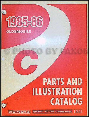 1985-1986 Oldsmobile 98 Parts Book Illustrated Catalog Regency and Brougham