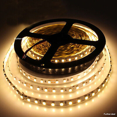 Warm White 5M 600 Leds SMD 3528 Flexible Led Strip Light Non-waterproof 12V New