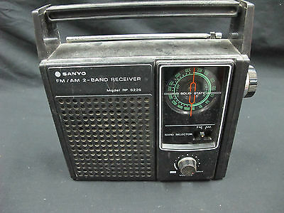 SANYO FM/AM 2-Band Receiver  MODEL : RP5225 Not Tested Sold AS-IS