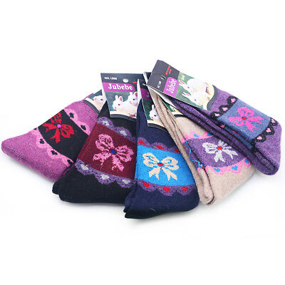 5 x Women's Wool Socks Warm Rabbit Blended Luxury Everyday Christmas gift