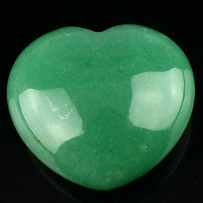 M18599 Carved aventurine heart-shape figurine