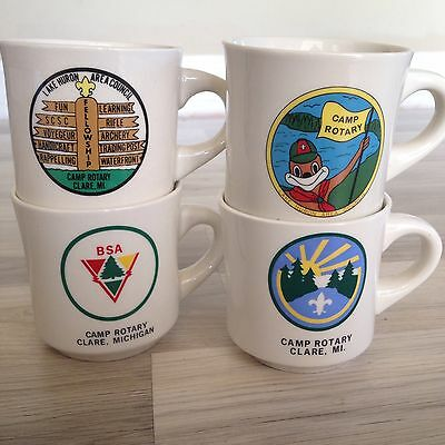 Boy Scout Mugs Set Of Four Camp Rotary Clare MI