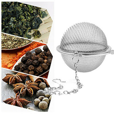 Silver Stainless Steel Infuser Strainer Mesh Tea Filter Spoon Locking Spice Ball