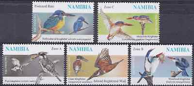 NAMIBIA - 2014 - Kingfishers. Complete Set of 5v. Mint NH