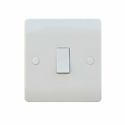 Sline 1G 45a Double Pole Appliance Cooker Switch With Neon in Durable Plastic
