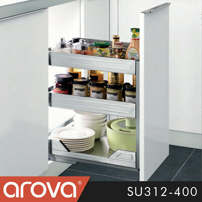 Pull Out Pantry Organiser Kitchen Base Storage Wire Basket For 150mm Cabinet Aud