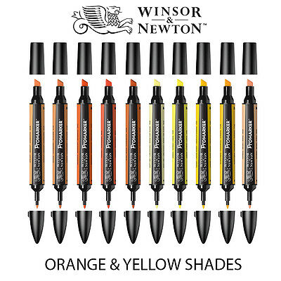 Winsor & Newton ProMarker Twin-Tip Graphic Marker Pens - YELLOW & ORANGE Tones